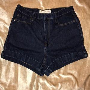 Gap High Rise Dark Denim Shorts